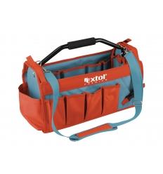 taška na nářadí s kovovou rukojetí, 49x23x28cm, 31 kapes, nylon