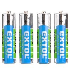Baterie zink-chloridové, 4ks, 1,5V AAA (R03)