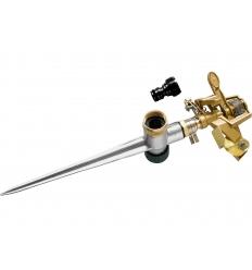 zavlažovač pulzní kovový, s kovovým , zapichovacím bodcem, MOSAZ