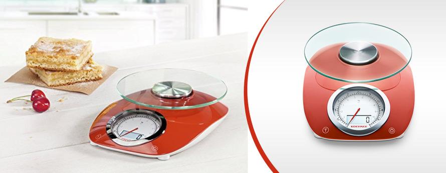 Kuchyňská váha Leifheit Vintage Style červená