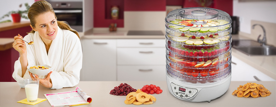Sušička ovoce Gorenje FDK 24 DW bílá/plast