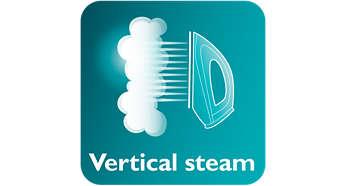 Domácí potřeby Vertikální napařování umožňuje odstranění záhybů na zavěšených tkaninách