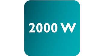 Příkon až 2000W umožňuje stálý, vysoký výstup páry dpkk