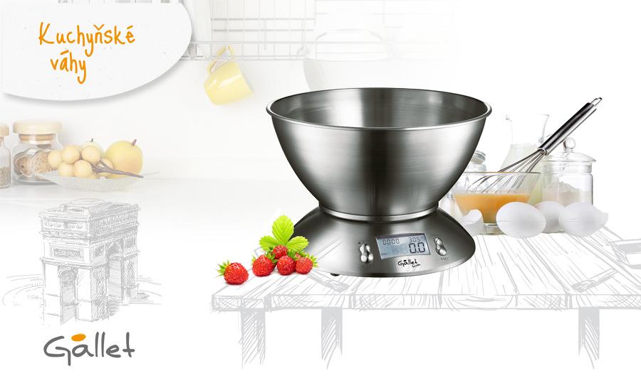 Kuchyňská váha Gallet Saintes BAC 415 nerez